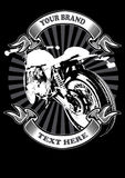 CAFE RACER apparel2. Image illustration a BIKER COMMUNITY for idea PATCH and Tee Shirt, clothing, apparel bikers design Stock Photography