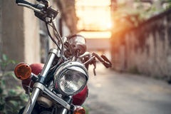 Cafe Racer Headlight Royalty Free Stock Photography