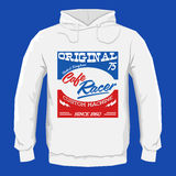 Cafe Racer hoodie print design template, vector illustration. Eps available Royalty Free Stock Photography