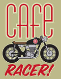 Cafe Racer Motorcycle Design Stock Photo