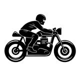 Cafe Racer Silhouette 001 Stock Images