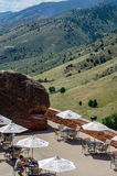 Cafe at red rocks in colorado Royalty Free Stock Photography