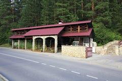 Cafe at the resort Belokuriha Stock Photos