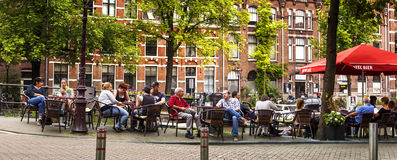 Cafe restaurant in Amsterdam Stock Photography