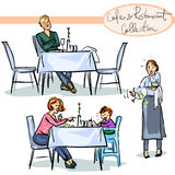 Cafe and Restaurant Collection - hand drawn scenes Stock Image