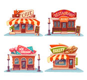 Cafe, restaurant, ice-cream shop and bakery Stock Image