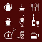 Cafe and Restaurant icon Royalty Free Stock Photo