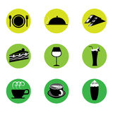 Cafe and Restaurant Icon Royalty Free Stock Photography