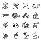 Cafe and Restaurant icons set. Stock Images