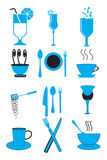 Cafe And Restaurant Icons Royalty Free Stock Image