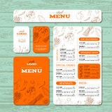 Cafe or restaurant identity template Royalty Free Stock Images