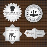 Cafe and restaurant labels set Royalty Free Stock Photography