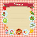 Cafe or restaurant menu template Royalty Free Stock Photo