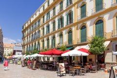 Cafe/restaurants in Plaza de la Merced Royalty Free Stock Photos