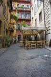 Cafe in Roman Alley Stock Images