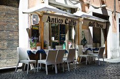 Cafe in Rome Royalty Free Stock Photos