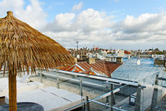 Cafe on a roof. Stock Images