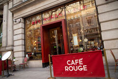 Cafe rouge Stock Images
