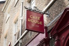Cafe rouge restaurant sign in York, Yorkshire, UK - 4th August 2 stock images