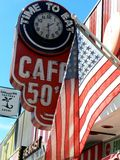 Cafe 50's. Café 50's Route 66 (Santa Monica Blvd) West LA in California Stock Images