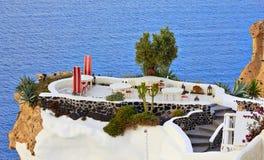 Cafe on Santorini royalty free stock photography