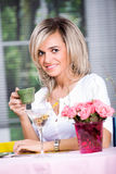 Cafe scene Royalty Free Stock Images