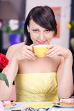 Cafe scene Stock Images