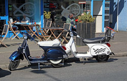 Cafe scooters Stock Photo