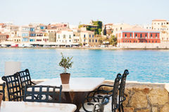 Cafe on the sea coast Stock Photography