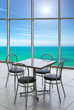 Cafe on the sea Stock Image