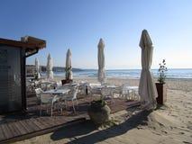 Cafe on the seashore Royalty Free Stock Image