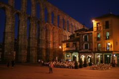 Cafe in Segovia in the evening Stock Image