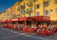 Cafe Senequier, Saint-Tropez, France Royalty Free Stock Photo