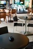 Cafe Series 02. Modern Outdoor Cafe Tables and Chairs Royalty Free Stock Image