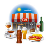 Cafe service Royalty Free Stock Image