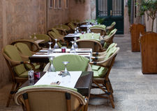 Cafe setting outdoor Royalty Free Stock Images