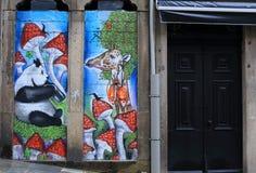 Cafe or shop decor. Graffiti, Lisbon, Portugal Royalty Free Stock Photos