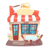 Cafe shop front Royalty Free Stock Images