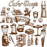Cafe shop set Royalty Free Stock Photography