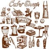 Cafe shop set Royalty Free Stock Photography