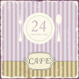 Cafe shop vintage retro template. Vector Stock Images