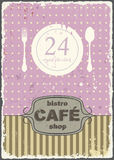 Cafe shop vintage retro template. Vector Royalty Free Stock Photo
