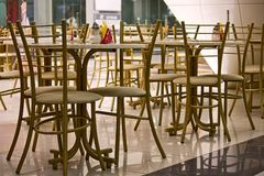 Cafe in shopping mall Royalty Free Stock Photo