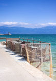 Cafe on the shore. In Baska, Croatia Royalty Free Stock Images