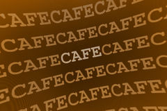 Cafe sign. Brown abstract Cafe sign / background Stock Image