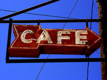 Cafe sign Stock Image