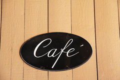 Cafe sign Royalty Free Stock Photography