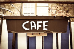 Cafe sign Stock Photography