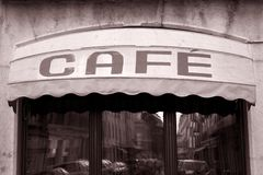Cafe Sign Stock Photos