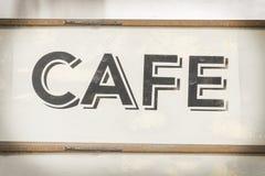 Cafe sign along historic Kamouong street in Vang Vieng, Laos. Stock Images